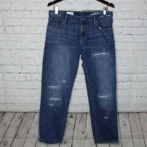 Gap 1969 Sexy Boyfriend Distressed Denim Jeans 27